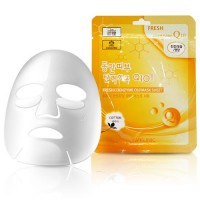 3W Clinic Тканевая маска для лица с коэнзимом Q10 Fresh Coenzyme Q10 Mask Sheet, 23 гр