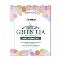 Anskin Маска альгинатная с экстрактом зеленого чая Green Tea Modeling Mask, 25 гр
