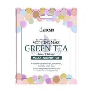 Anskin Маска альгинатная с зеленым чаем Green Tea Modeling Mask, 25 гр
