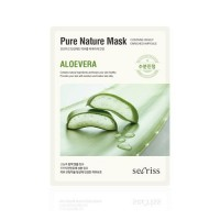 Anskin Маска для лица тканевая с алоэ Secriss Pure Nature Mask Pack Aloevera, 25 гр