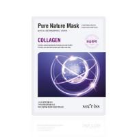 Anskin Маска для лица тканевая с коллагеном Secriss Pure Nature Mask Pack Collagen, 25 гр