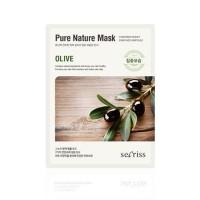 Anskin Маска для лица тканевая с оливой Secriss Pure Nature Mask Pack Olive, 25 гр