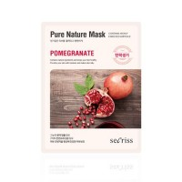 Anskin Маска для лица тканевая с гранатом Secriss Pure Nature Mask Pack Pomeganate, 25 гр
