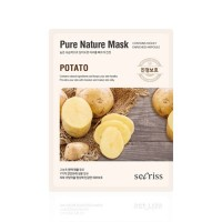 Anskin Маска для лица тканевая с картофелем Secriss Pure Nature Mask Pack Potato, 25 гр