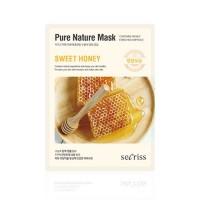 Anskin Маска для лица тканевая с медом Secriss Pure Nature Mask Pack Sweet Honey, 25 гр