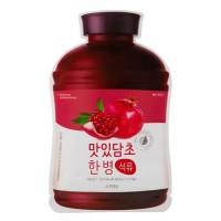 A'pieu Маска для лица тканевая Fruit Vinegar Sheet Mask (Pomegranate), 20 гр