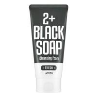 A'pieu Пенка для умывания Fresh Blacksoap 2+ Cleansing Foam, 130 мл