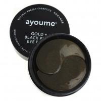 Ayoume Гидрогелевые патчи для глаз от темных кругов с золотом и черным жемчугом Gold & Black Pearl Eye Patch, 60 шт