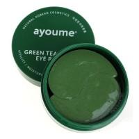 Ayoume Гидрогелевые патчи для глаз от отечности с экстрактом зеленого чая и алоэ Green Tea & Aloe Eye Patch, 60 шт