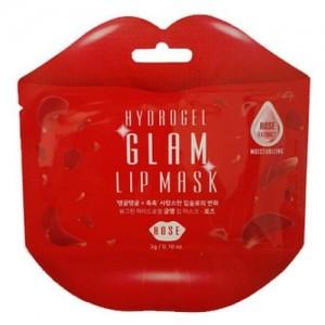 Beauugreen Гидрогелевый патч для губ с розой Hydrogel Lip Patch Rose, 1 шт