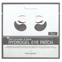 Beauugreen Патчи для глаз Sea Cucumber & Black Hydrogel Eye Patch, 2 шт