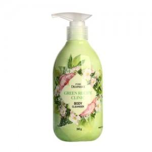 Deoproce Гель для душа с натуральными экстрактами Pure Green Recipe Clinic Body Cleanser, 300 мл