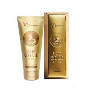 Elizavecca Пенка для умывания с золотом и муцином улитки 24K Gold Snail Cleansing Foam, 180 мл
