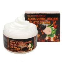 Elizavecca Паровой увлажняющий крем с маслом арганы Milky Piggy Aqua Rising Argan Gelato Steam Cream, 100 гр