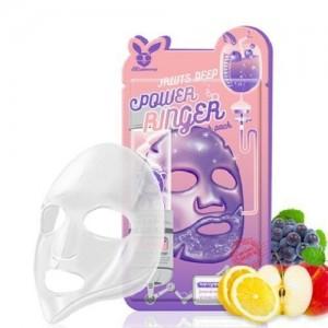 Elizavecca Тканевая маска для лица фруктовая Fruits Deep Power Ringer Pask Pack, 23 гр