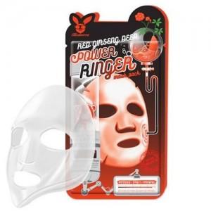 Elizavecca Тканевая маска для лица с экстрактом красного женьшеня Red Ginseng Deep Power Ringer Mask Pack, 23 гр