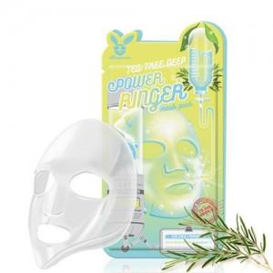 Elizavecca Тканевая маска для лица с экстрактом чайного дерева Tea Tree Deep Power Ringer Mask Pack, 23 гр