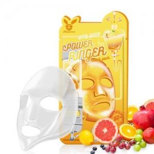 Elizavecca Тканевая маска для лица с витаминами Vita Deep Power Ringer Mask Pack, 23 гр