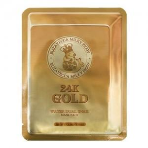 Elizavecca Маска листовая с улиткой 24K Gold Water Dual Snail Mask Pack, 25 гр