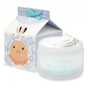 Elizavecca Крем для лица осветляющий Milky Piggy Real White Time Milk Cream, 100 мл