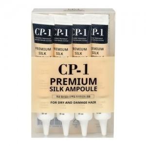Набор несмываемых сывороток для волос с протеинами шелка Esthetic House CP-1 Premium Silk Ampoule, 4 шт * 20 мл