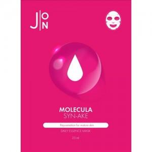 J:ON Тканевая маска для лица со змеиным пептидом Molecula Syn-Ake Daily Essence Mask, 23 мл