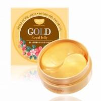 Koelf Гидрогелевые патчи для глаз с золотом и маточным молочком Royal Jelly Hydrogel Eye Patch, 60 шт