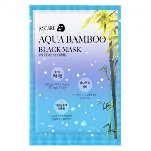 Mijin Маска тканевая для лица с черным бамбуком Aqua Bamboo Black Mask, 25 гр
