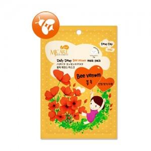 Маска тканевая для лица с пчелиным ядом Mijin Care Daily Dewy Bee Venom Mask Pack, 25 гр
