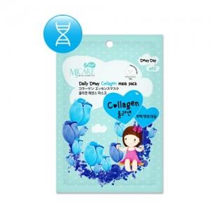 Маска тканевая для лица с коллагеном Mijin Care Daily Dewy Collagen Mask Pack, 25 гр