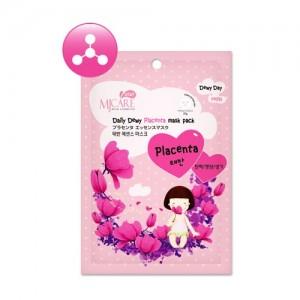 Маска тканевая для лица с плацентой Mijin Care Daily Dewy Placenta Mask Pack, 25 гр