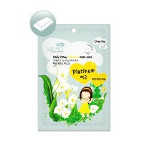 Маска тканевая для лица с платиной Mijin Care Daily Dewy Platinum Mask Pack, 25 гр