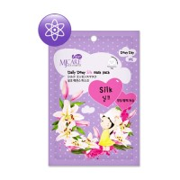 Маска тканевая для лица с аминокислотами шелка Mijin Care Daily Dewy Silk Mask Pack, 25 гр