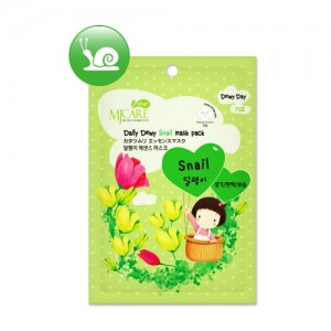 Маска тканевая для лица с экстрактом слизи улитки Mijin Care Daily Dewy Snail Mask Pack, 25 гр