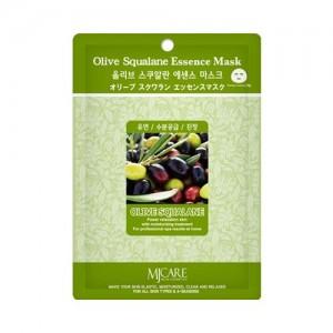 Mijin Маска тканевая с оливой Care Olive Squalane Essence Mask, 23 гр