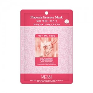Mijin Маска тканевая с плацентой Care Placenta Essence Mask, 23 гр