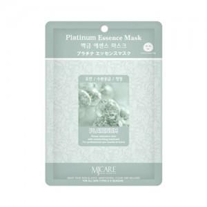 Mijin Маска тканевая с платиной Care Platinum Essence Mask, 23 гр