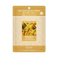 Mijin Маска тканевая с рисовыми отрубями Care Rice Bran Essence Mask, 23 гр
