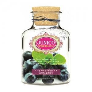 Mijin Маска тканевая с экстрактом черники Junico Blueberry Essence Mask, 25 гр