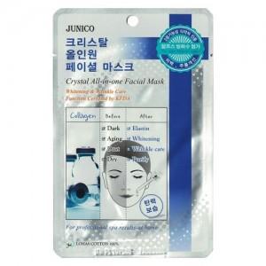 Mijin Маска тканевая с коллагеном Junico Crystal All-In-One Facial Mask Collagen, 25 гр