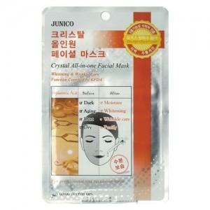 Mijin Маска тканевая с гиалуроновой кислотой Junico Crystal All-In-One Facial Mask Hyaluronic Acid, 25 гр