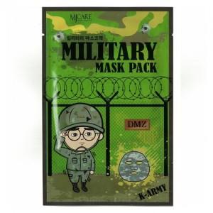 Mijin Маска тканевая для лица мужская Military Mask Private, 25 гр