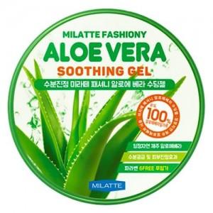 Milatte Универсальный успокаивающий гель с алоэ Fashiony Aloe Vera Soothing Gel, 300 мл