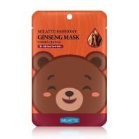Milatte Маска для лица тканевая с экстрактом красного женьшеня Fashiony Ginseng Mask Sheet, 21 гр