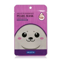 Milatte Маска для лица тканевая с экстрактом жемчуга Fashiony Pearl Mask Sheet, 21 гр