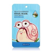 Milatte Маска для лица тканевая улиточная Fashiony Snail Mask Sheet, 21 гр