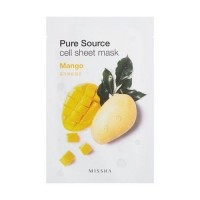 Missha Тканевая маска для лица с манго Pure Source Cell Sheet Mask Mango, 21 гр