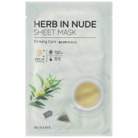 Missha Тканевая маска для лица укрепляющая Herb In Nude Sheet Mask Firming Care, 23 гр