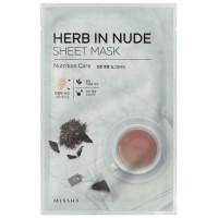 Missha Тканевая маска для лица питательная Herb In Nude Sheet Mask Nutrition Care, 23 гр