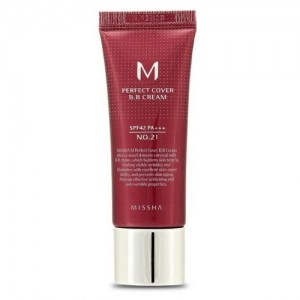 Missha Тональный крем M Perfect Cover BB Cream SPF42/PA+++, 20 мл